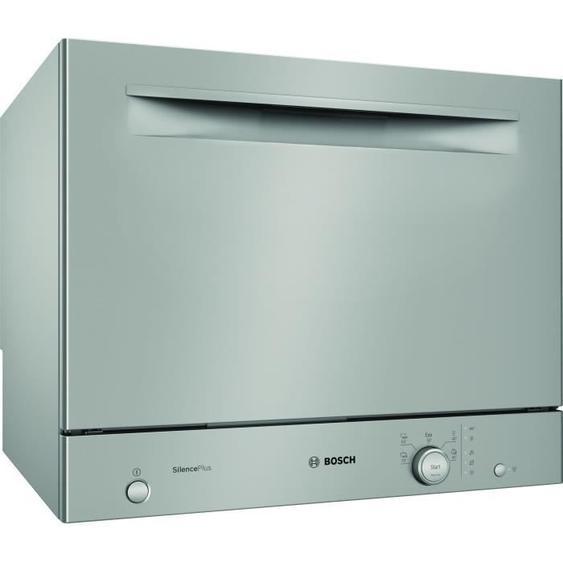 Lave-vaisselle compact pose libre BOSH SKS51E38EU Série 2 - 6 couverts - Largeur 55 cm - Classe A+ - 49 dB - Inox