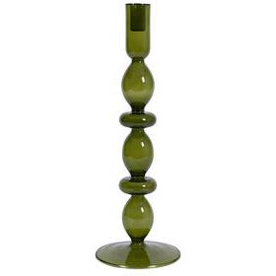 Bougeoir verre recyclé vert Ø13,5 x 40  cm
