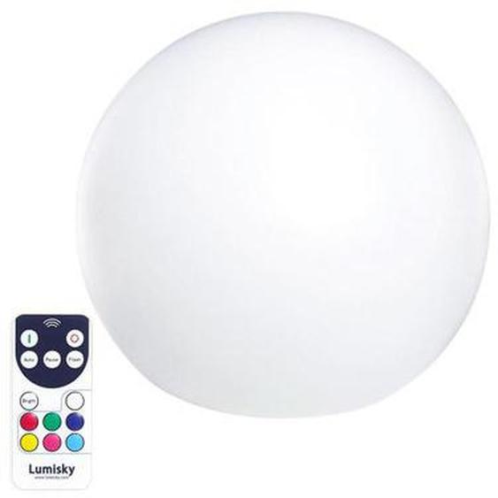 Boule lumineuse sans fil flottante LED multicolore dimmable C20 ∅20cm avec télécommande et socle à induction
