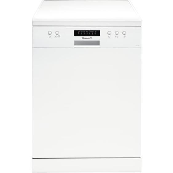 Lave-vaisselle pose libre BRANDT LVC128W - 12 couverts - Largeur 60 cm - Classe A+++ - 48 dB - Blanc