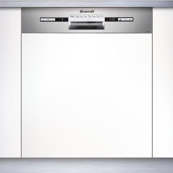Lave-vaisselle encastrable BRANDT VH1772X - 12 couverts - Largeur 60 cm - Classe A++ - 47 dB - Bandeau inox/silver