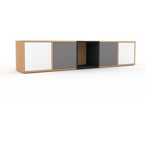 Buffet bas en hêtre, bois massif, aspect intemporel et naturel, de qualité - 195 x 41 x 35 cm
