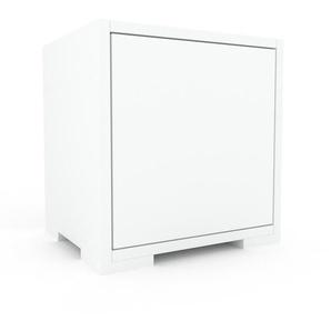 Buffet bas - blanc, pièce de caractère, rangements bas de luxe, avec porte blanc - 41 x 43 x 35 cm, personnalisable