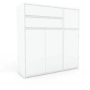 Buffet - blanc, moderne, avec porte blanc et tiroir blanc - 116 x 118 x 35 cm