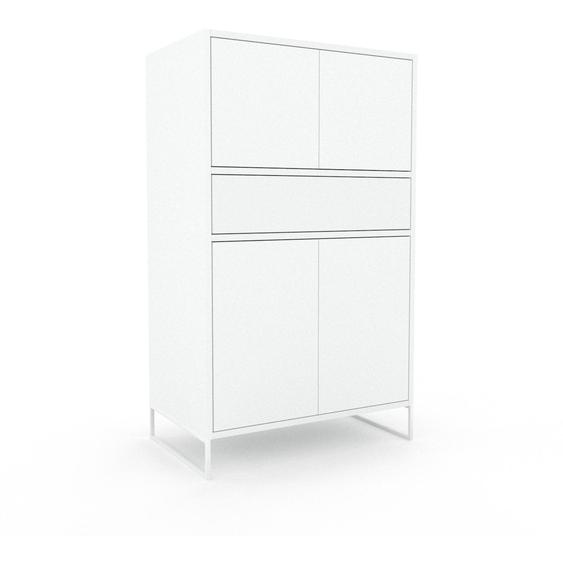 Buffet - Blanc, moderne, avec porte Blanc et tiroir Blanc - 77 x 130 x 47 cm