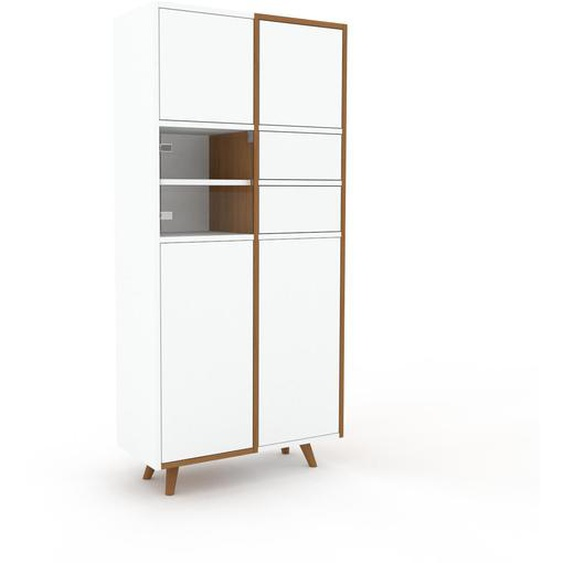 Buffet - Blanc, moderne, avec porte Blanc et tiroir Blanc - 79 x 168 x 35 cm