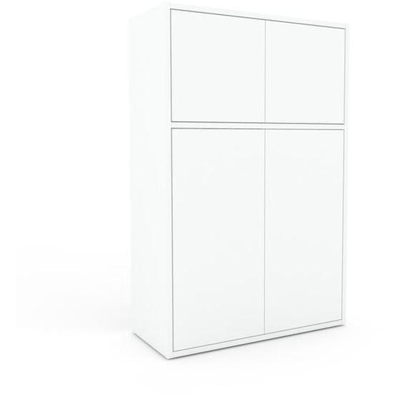 Buffet - Blanc, pièce modulable, enfilade, avec porte Blanc - 77 x 118 x 35 cm