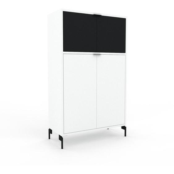 Buffet - Blanc, pièce modulable, enfilade, avec porte Blanc - 77 x 130 x 35 cm