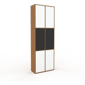 Buffet - Blanc, pièce modulable, enfilade, avec porte Blanc - 79 x 234 x 35 cm