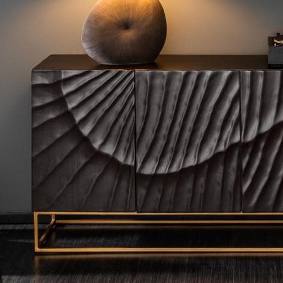 Buffet design 4 portes façade sculptée - Piran