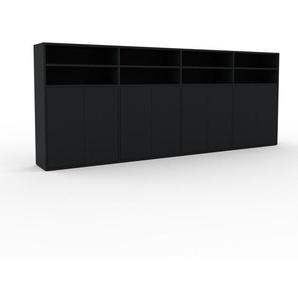 Buffet - noir, pièce modulable, enfilade, avec porte noir - 301 x 118 x 35 cm