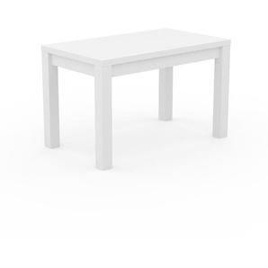 Bureau - Blanc, contemporain, table de travail sophistiquée, avec cadre Blanc - 120 x 76 x 70 cm, modulable