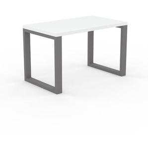 Bureau - Blanc, design contemporain, table de travail, fonctionnelle - 120 x 75 x 70 cm, modulable