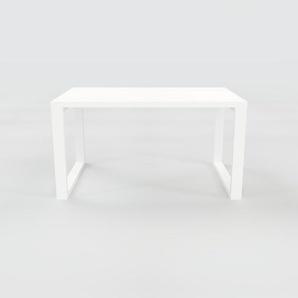Bureau - Blanc, design contemporain, table de travail, fonctionnelle - 140 x 75 x 90 cm, modulable