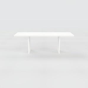 Bureau - Blanc, design contemporain, table de travail, fonctionnelle - 220 x 75 x 70 cm, modulable