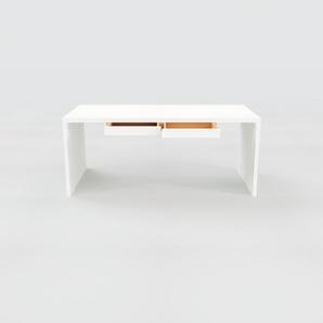 Bureau - Blanc, moderne, table de travail, avec tiroir Blanc - 180 x 75 x 90 cm, modulable