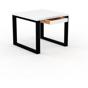 Bureau - Blanc, moderne, table de travail, avec tiroir Blanc - 90 x 75 x 90 cm, modulable