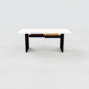 Bureau - Blanc, moderne, table de travail, avec tiroir Wengé - 180 x 75 x 90 cm, modulable