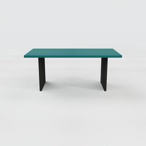 Bureau - Bleu, design contemporain, table de travail, fonctionnelle - 180 x 75 x 90 cm, modulable