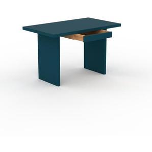 Bureau - Bleu, moderne, table de travail, avec tiroir Bleu - 120 x 75 x 70 cm, modulable