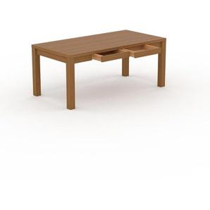 Bureau - Chêne, design, table de travail raffinée, avec tiroir Chêne et cadre Chêne - 180 x 76 x 90 cm, modulable