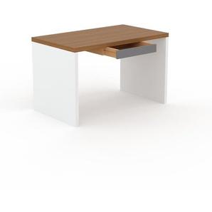 Bureau - Chêne, moderne, table de travail, avec tiroir Gris - 120 x 75 x 70 cm, modulable