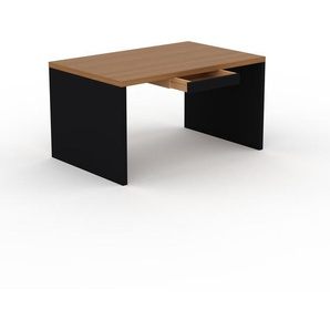 Bureau - Chêne, moderne, table de travail, avec tiroir Noir - 140 x 75 x 90 cm, modulable