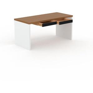 Bureau - Chêne, moderne, table de travail, avec tiroir Noir - 160 x 75 x 70 cm, modulable