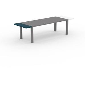 Bureau - Gris, design contemporain, table de travail, fonctionnelle - 290 x 76 x 90 cm, modulable