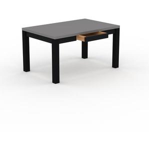 Bureau - Gris, design, table de travail raffinée, avec tiroir Noir et cadre Noir - 140 x 76 x 90 cm, modulable