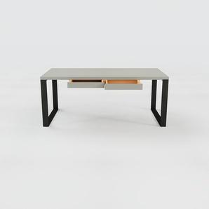 Bureau - Gris, moderne, table de travail, avec tiroir Gris - 180 x 75 x 90 cm, modulable