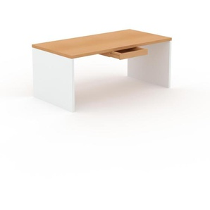 Bureau - Hêtre, moderne, table de travail, avec tiroir Hêtre - 180 x 75 x 90 cm, modulable