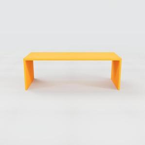 Bureau - Jaune, design contemporain, table de travail, fonctionnelle - 220 x 75 x 90 cm, modulable