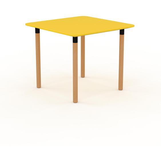 Bureau - Jaune, design contemporain, table de travail, fonctionnelle - 90 x 75 x 90 cm, modulable
