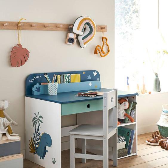 Bureau maternelle ROAAR blanc moyen uni avec decor
