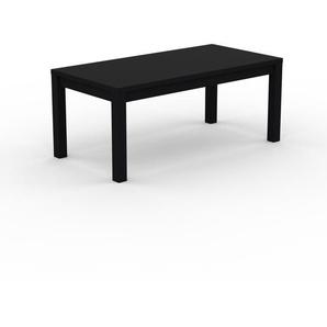 Bureau - Noir, contemporain, table de travail sophistiquée, avec cadre Noir - 180 x 76 x 90 cm, modulable