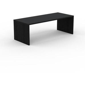 Bureau - Noir, design contemporain, table de travail, fonctionnelle - 220 x 75 x 90 cm, modulable