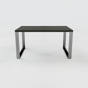 Bureau - Noir, design industriel, table de travail de qualité, avec pieds en métal - 140 x 75 x 90 cm, personnalisable