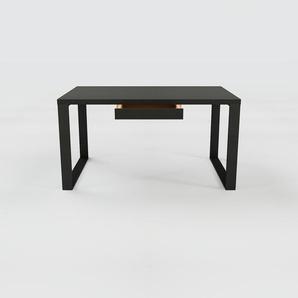 Bureau - Noir, moderne, table de travail, avec tiroir Noir - 140 x 75 x 90 cm, modulable