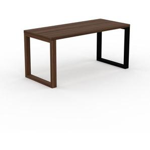 Bureau - Noyer, design contemporain, table de travail, fonctionnelle - 160 x 75 x 70 cm, modulable