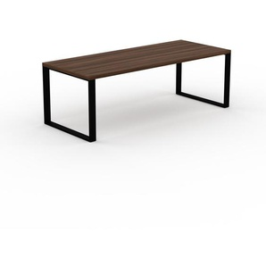 Bureau - Noyer, design contemporain, table de travail, fonctionnelle - 220 x 75 x 90 cm, modulable