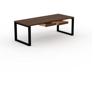 Bureau - Noyer, moderne, table de travail, avec tiroir Noyer - 220 x 75 x 90 cm, modulable
