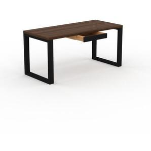 Bureau - Noyer, moderne, table de travail, avec tiroir Wengé - 160 x 75 x 70 cm, modulable