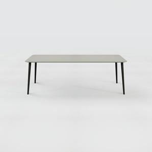 Bureau scandinave - Gris, design moderne, table de travail nordique, avec pieds inclinés et épurés - 220 x 75 x 90 cm, modulable