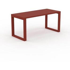 Bureau - Rouge, design contemporain, table de travail, fonctionnelle - 160 x 75 x 70 cm, modulable