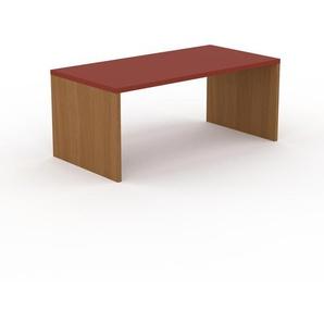 Bureau - Rouge, design contemporain, table de travail, fonctionnelle - 180 x 75 x 90 cm, modulable