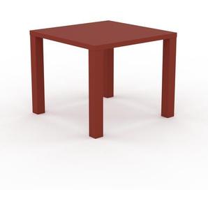 Bureau - Rouge, design contemporain, table de travail, fonctionnelle - 90 x 76 x 90 cm, modulable