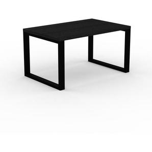 Bureau - Wengé, design contemporain, table de travail, fonctionnelle - 140 x 75 x 90 cm, modulable