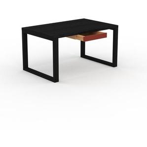 Bureau - Wengé, moderne, table de travail, avec tiroir Rouge - 140 x 75 x 90 cm, modulable