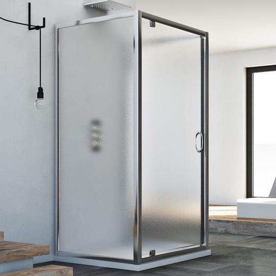 Cabine douche avec 3 côtés 90x80x90 AP. 80 CM H185 granité C modèle Sintesi Trio avec 1 portillon - IDRALITE